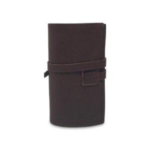 Porta IQOS classico in pelle marrone scuro con laccio