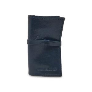 Porta IQOS classico in pelle blu notte con laccio