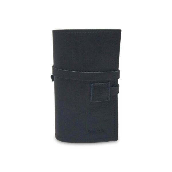 Porta IQOS classico in pelle nero e interno beige con laccio