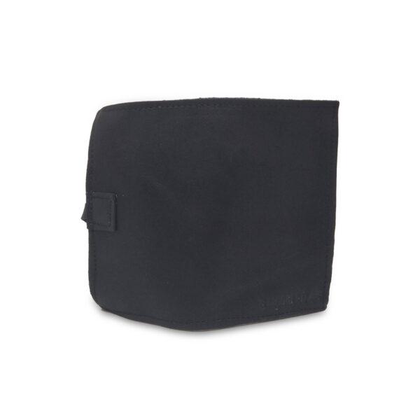 Porta IQOS classico in pelle nero e interno blu con laccio