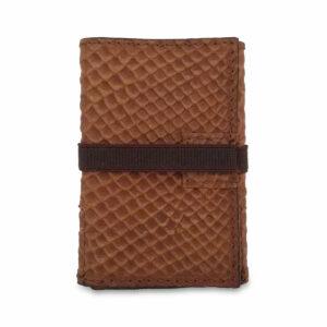 Portafogli EasyMoney con laccio orizzontale in pelle nabuk marrone