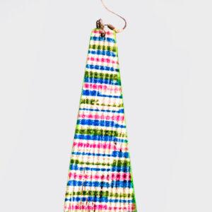 Mono Orecchino piramide lungo multicolor