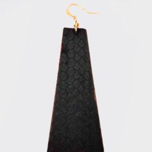 Mono Orecchino piramide pitonato nero