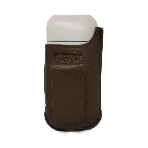 Porta IQOS da cintura color marrone