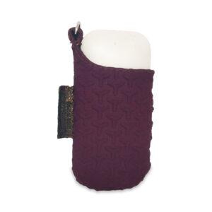 Porta IQOS da cintura color prugna