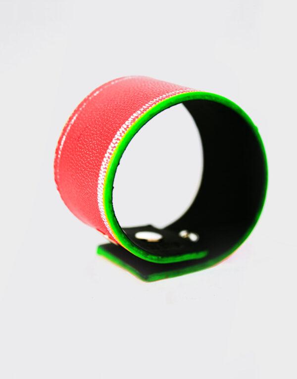 Bracciale verde e rosso