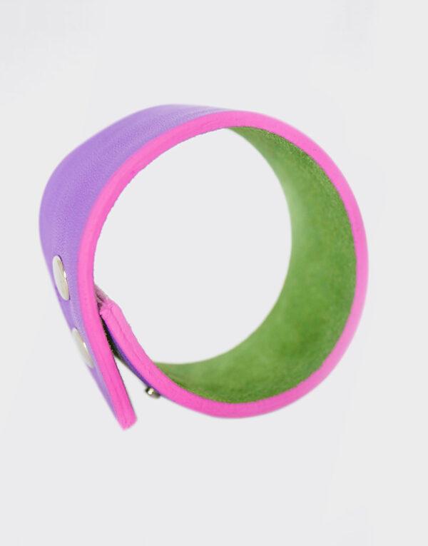 Bracciale verde mela e lilla