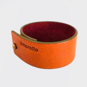 Bracciale arancio e marrone russet con bordo verde