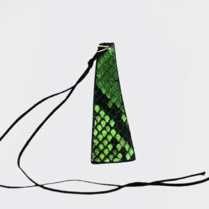Collana piramide verde smeraldo e nero