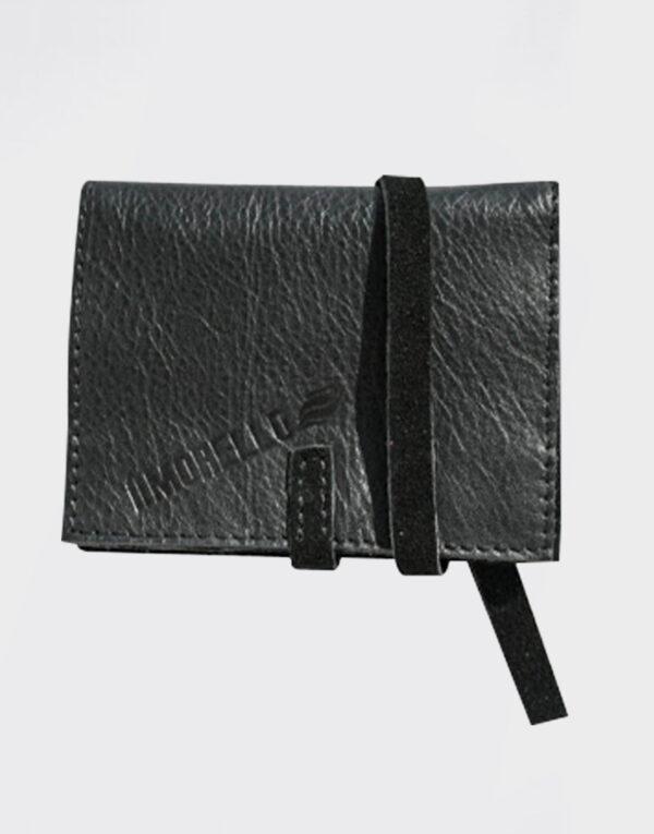 Portatabacco Mini in pelle color nero
